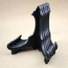 6 x Black Plastic Plate Holders Display Dish Rack Height - 20cm New