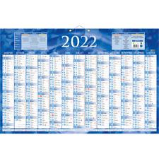 Calendrier de banque 2022 - 17.5 x 13.5 cm Bleu, Bouchut