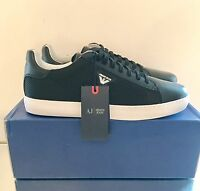 Armani Jeans Black Trainers Size 9 EU 43 Mesh Leather Sneakers RRP £150 New
