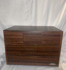 Teac Vintage MCM Cassette Storage Case 5 Drawer