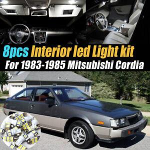 8Pc Super White Car Interior LED Light Bulb Kit for 1983-1985 Mitsubishi Cordia