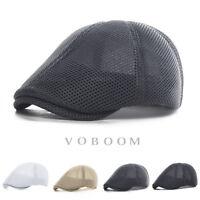 chapeau de lierre Hommes chapeau d'été Mesh respirant béret Cabbie chapeau 1