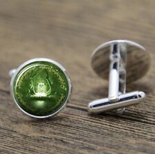 Cufflinks Glass Silver Moria Door Lord Of The Rings New & Sealed