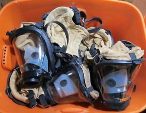 10x Survivair Sperian Twenty 20/20 Fire Rescue Respirator Mask w/ Amplifier