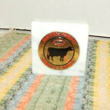 Vintage Agway Paperweight Dairy Feed Farm Agriculture Advertising Display