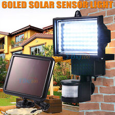 60 LED Ultra Bright Solar Garden Flood Light Motion Detection Sensor Security AU