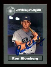 Ron Blomberg Autograph 2003 Fleer/Skybox Jewish Silver /1500 Yankees