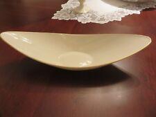"VTG Lenox Ivory 15 1/4"" Oblong Gold Rim Fruit Serving Centerpiece Dish USA LOOK"