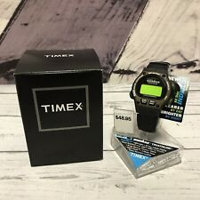 Timex Womens Ironman Triathlon Leather Watch Indiglo Night Light T82381 WR
