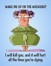 METAL FRIDGE MAGNET Wake Me Weekend I Kill You It Will Hurt Family Friend Humor