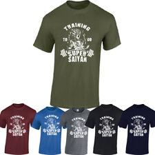 Super Saiyan Mens Gym T-Shirt Training Dragon Ball Z Fitness Top Training To go,