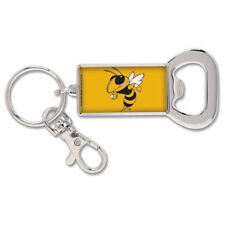 NCAA Georgia Tech Yellow Jackets Silvertone Bottle Opener Keychain