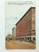 Vintage Postcard Portage Ave Eaton's Store & Somerset Building Winnipeg Manitoba