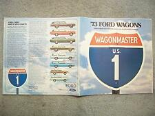 1973 FORD WAGONS BROCHURE TORINO PINTO RECREATIONAL VEHICLES CUSTOM 500 F-250 F-