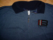 Boss Blue T Shirt Zipper-XL