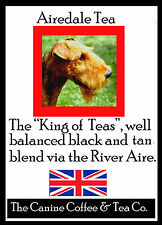 Airedale  Terrier Tea  perfect English Breakfast flavor