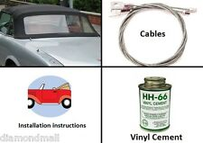 Fiat 124 CS1 Spider 1966-1979 1600 1800 Convertible Top Kit (DIY) Black Stayfast