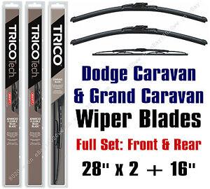Dodge Caravan / Grand Caravan 2001-2007 Wipers 3-Pk Front & Rear - 19280x2/30160