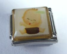 BABY Italian Charm BY13 - fits ALL 9mm Starter Bracelets - New Babies It's a Boy