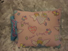 ANGEL GARDEN mastectomy PILLOW W/HANDLE EMBROIDER name 10.5 X12 cancer remission
