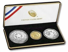 2015 US Marshals Service 3-Coin Proof Set, Mint Packaging and COA, Gold Silver!