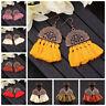 Fashion Women Bohemian Earrings Long Tassel Fringe Drop Dangle Ear Stud Jewelry