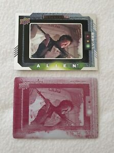 Upper Deck Alien Production Used Magenta Printing Plate