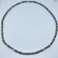 """Authentic Vintage Navajo Silver Bead Pearl Necklace (23"""")"""