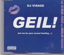 DJ Visage-Geil cd maxi single 8 tracks