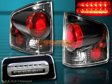 1994-2004 CHEVY S10 SONOMA TAIL LIGHTS 3D STYLE DARK SMOKE + 3RD BRAKE LIGHT NEW