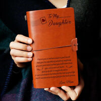 To My Daughter I Want You Love Mom Engraved Leather Journal Notebook Diary