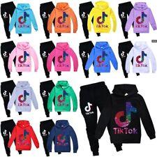 Kids Boys Girls Tik Tok Long Sleeve Hoodies Tracksuits Sportswear Set Tops+Pants