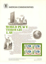 #54A 10c World Peace Through Law #1576  USPS Commemorative Stamp Panel