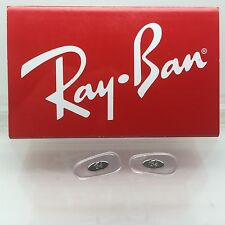 Authentic Rayban RB 3016 Clubmaster Replacement  Crimp On Silicone Nose Pads