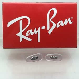1 Pair of Clear Crimp-On Silicon Nose Pads for Ray-Ban RB Aviator Sunglasses NEW
