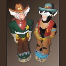 Vintage 90's CowBoys of Moo Mesa Bubble Bath Toys Cowlorado Kid Marshal Montana