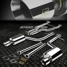 "J2 DUAL 4""MUFFLER TIP CATBACK+Y-PIPE FULL EXHAUST SYSTEM FOR 14+LEXUS IS 250/350"