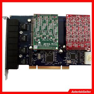 TDM800P 4 FXS 4 FXO,PCI Asterisk Card Issabel FreePBX Dahdi FXO FXS Voice Board