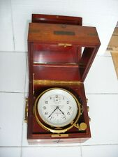 Full Ship Chronometer Ulysse-Nardin Gimbal Mounted In Hinged Case For Repair