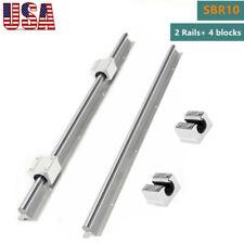 Sbr10 Linear Slide Rail Guide Shaft Rod 300 1000mm4x Sbr10uu Bearing Block Cnc
