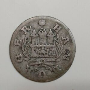 1727 German States Hamburg 1 Shilling