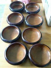 Vintage Japanese Wooden Bowl Salad Bowl Set of 8