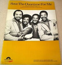 GLADYS KNIGHT and the PIPS Save The Overtime For Me Sheet Music Song Book 1983