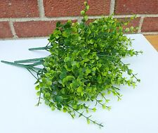 4x 7stems Mini leaf Bushes Artificial Plastic Plants Grass Restaurant Decor