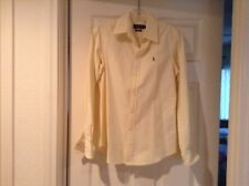 Ladies Ralph Lauren Polo Yellow And White Striped Button Down Shirt S/P