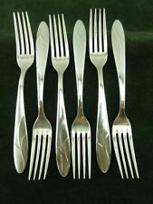 6 nice Carl Mertens German Diessert side Forks silver plated