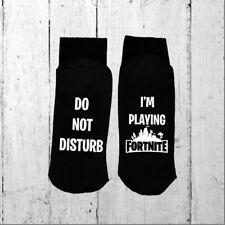 novelty socks Do Not Disturb / I'm Playing FORTNITE & Eat Sleep FORTNITE Repeat!