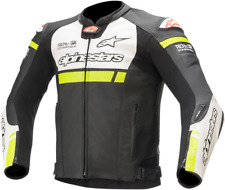 Missle Ignition Airflow Leather Jackets Alpinestars 50 Black White Yellow