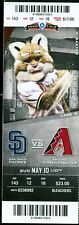 2015 Diamondbacks vs Padres Ticket: Mark Reynolds hit a three-run homer