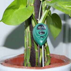 3 in1 Plant Flowers Soil PH Tester Moisture Light Meter hydroponics Analyzer New